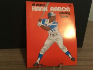 Mint 1974 Hank Aaron coloring book.new homerun king is crowned