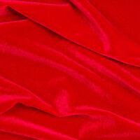 "Red Stretch Velvet Apparel Costume Dance Spandex Fabric - BTY - 58"""