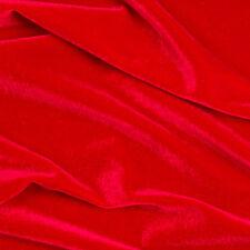 Red Stretch VELVET Apparel Dress Costume Fabric - 25 Yard Bolt Rol