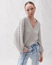 Joslin Paige Wool Cotton Knit Marle Grey M/L