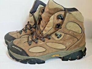 MERRELL Women's Sz 9.5 Sawtooth Walnut Hiking Trail Boots Light Brown Workboots