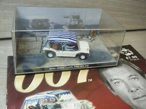JAMES BOND CAR COLLECTION MINI MOKE FROM LIVE AND LET DIE ISSUE 24+MAGAZINE