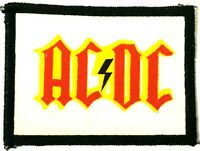 AC/DC - Old OG Vtg 70/80`s Printed Patch Sew On (NOT shirt badge) Aufnäher