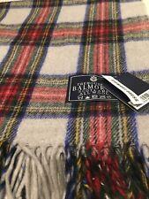 House of Balmoral Stewart Dress Tartan Check Blanket Rug Red Green Blue Warm