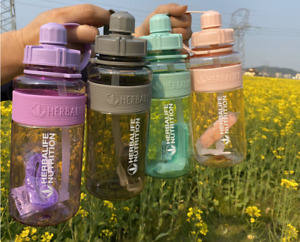Herbalife 1000ml Large Water Bottle Space Sports Straw Cup Bottle With Straps