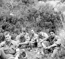 WW2 Photo WWII US Army 10th Mountain Italy 1944 Chow Time!  World War Two / 1392