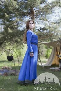 "Viking Dress ""Ingrid the Hearthkeeper"" for LARP, SIZE 0, green color"