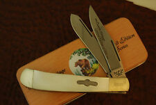 BEAR & SON USA LIMITED EDITION 1 of 600 BONE PEARL TRAPPER KNIFE W/TIN (SM307)