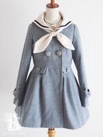 🌹Ank Rouge🌹Sailor Collar Coat Gray Romantic Lolita Japan F602