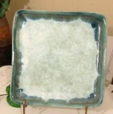 """McCarty POTTERY JADE GLAZE  8 X 8 """" SQUARE PLATE NEW NEVER USED!"""