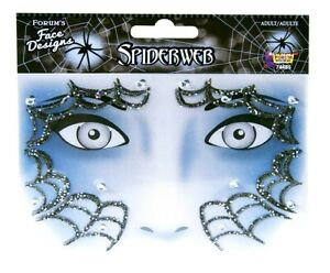 Halloween Spiderweb Face Art Sticker Design Adult Witch Costume Accessory Facial
