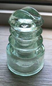 Polish Glass Insulator CD 586.2: Poland light green