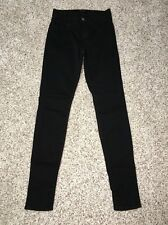 JBRAND Jeans Black Wash Skinny Leg Size 24 X 29 Minor Cosmetic defect see photo