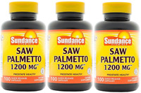 Sundance Saw Palmetto 1200 mg Tablets, 100 Count (3 Pack)