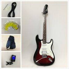 Haze E-211TRDS Solid Body SC Electric Guitar,Tiger Red+Free Gig Bag-Full Kits!