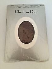 Christian Dior Dot French Taupe Sheer Pantyhose Cotton Crotch Sandalfoot Size 1