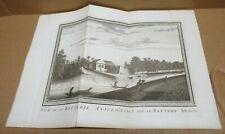 INDONESIE ancienne gravure en noir batterie d'ANJOL XVIIIème siècle