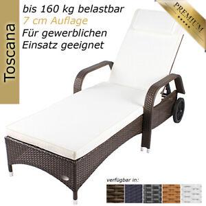 Sonnenliege Gartenliege Liege Liegestuhl Relaxliege Polyrattan Rattan Balkon