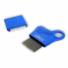 Lice Comb and Nit Removal with Spiral Stainless Steel Teeth Detection Treatment