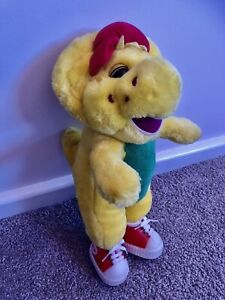 Vintage Barney And Friends BJ The Yellow Dinosaur 1994? Lyons Plush Toy