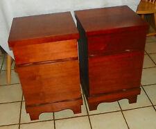 Pair of Walnut Mid Century Nightstands (Ns42)