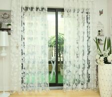Floral Window Curtains Tulle Sheer Modern Home Decoration Curtain Treatments New