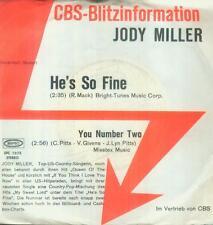"""7"""" Jody Miller/he 's so fine (CBS fulmine Information)"""