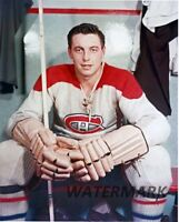NHL 1950's HOFer Jean Béliveau Montreal Canadiens Color 8 X 10 Photo Free Ship