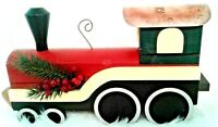 Vintage Wooden Toy Train Handmade  Christmas Copper Home Decorative Collectible
