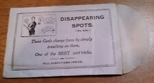 Collectible Early Adams DeLand Disappearing Spots Card Trick #353