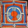Vintage Vera Neumann Silk Scarf Geometric Red Blue