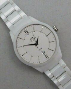Oniss Slim Ceramic Swiss Quartz Pre-Owned Men's Watch....43mm