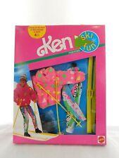 Barbie Ski Fun Fashions 1991 7597 Nrfb Mattel Vintage Ken Pink Sweater legging