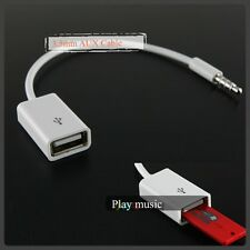 USB Female To 3.5mm Male car audio aux 3.5mm usb cable auxiliary input Disk Mp3