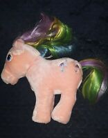 Vintage 1984 HASBRO G1 MY Little Pony Rainbow Pink PARASOL SOFTIES Plush HTF