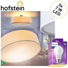 Decken Leuchte Flur Ø60cm inkl. 3 Philips LED 7W Lampen Wohn Schlaf Zimmer weiss