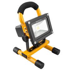 NINETEC 10W LED Flutlicht Fluter Lampe Außen Strahler kabellos Baustrahler Gelb