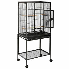 """New listing 53"""" Large Parrot Bird Cage Cockatiel Lovebird Finch Feeder Stand Play Top House"""