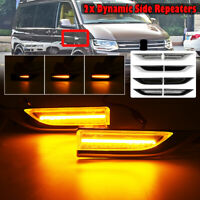 2x Dynamic LED Side Indicator Light Lamp For VW T6 Transporter Caravelle MK4 !!