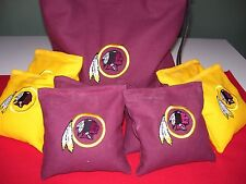 Washington Redskins Embroidered Cornhole Corn Hole Bags Set of 8 w/Storage Bag