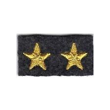 [Militaria] Coppia Stelle ricamate - Stellette oro su fondo grigioverde - mm 15