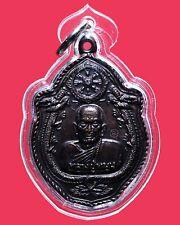 Beautiful Phra Rian LP MOON B.E. 2543 Wat PA Nong Lom with Case Thai Amulet