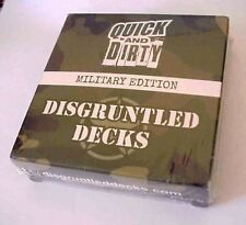 Quick And Dirty Military Edition - Fast fun game by Disgruntled Decks sealed
