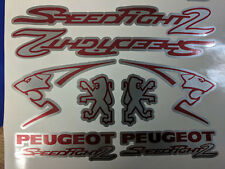 Peugeot Speedfight 2 Sticker/Decal Set  *SILVER & RED* 50, 70, 100, speedy pug