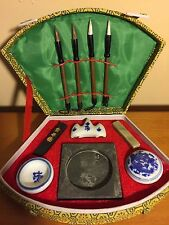 Vintage Chinese Calligraphy & Painting Set