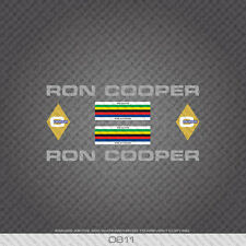 0811 Ron Cooper Bicycle Stickers - Decals - Transfers - Silver
