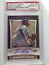 Prince Fielder 2005 trilogy signature auto 9/35 PSA 10 gem mint autograph