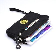 Black Zipper Purse Wallet Pouch Case for iPhone 7 Plus / Samsung Galaxy S7 Edge
