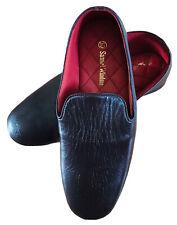 SAMUEL WINDSOR Mens Brown All Leather Slip On Handmade Slippers House Shoes Uk10