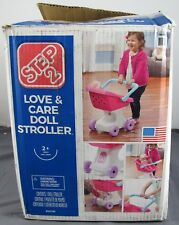 Step 2 Toddler Pink/White Plastic Love & Care Doll Stroller #854100 2+ NIOP